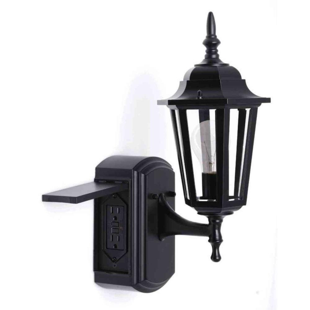 Popular Photo of Outdoor Ceiling Light With Electrical Outlet
