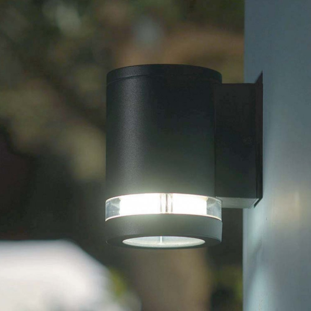 Outdoor Lighting: Awesome Solar Exterior Wall Light Fixtures Outside Throughout Outdoor Wall Garage Lights (#9 of 15)