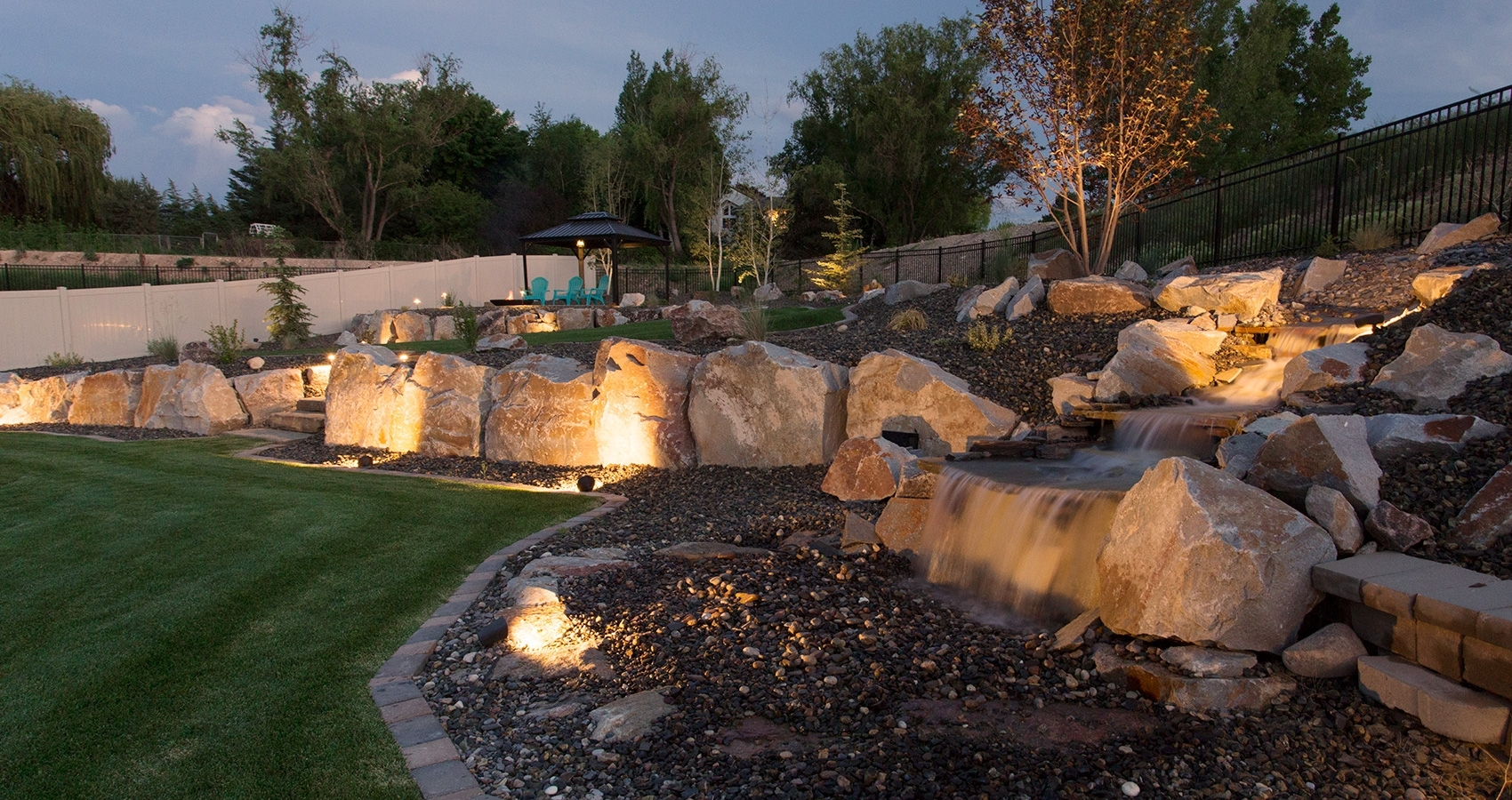 Outdoor Lighting – Perfect Earth Landscaping With Regard To Outdoor Rock Wall Lighting (#11 of 15)