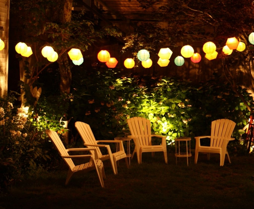 Outdoor Patio Lights Evening : Incredible Idea To Create Outdoor Intended For Modern Outdoor String Lights At Wayfair (#11 of 15)