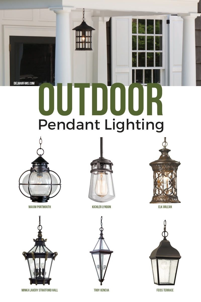 Outdoor Pendant Lighting, Commonly Called A Hanging Porch Lantern With Outdoor Ceiling Mount Porch Lights (#11 of 15)