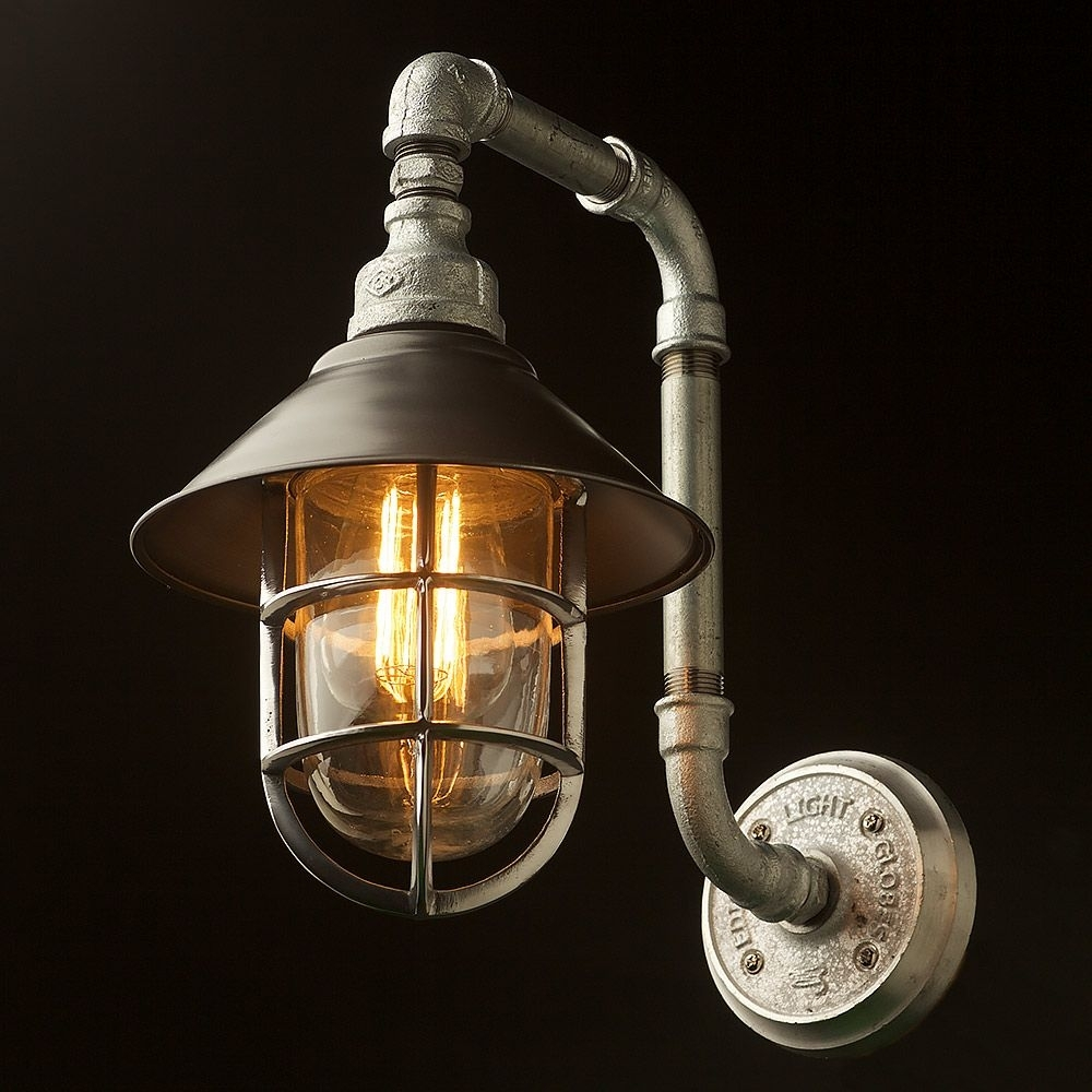 Outdoor Plumbing Pipe Wall Shade Lamp | Plumbing Pipe, Water Pipes Within Made In Usa Outdoor Wall Lighting (#12 of 15)