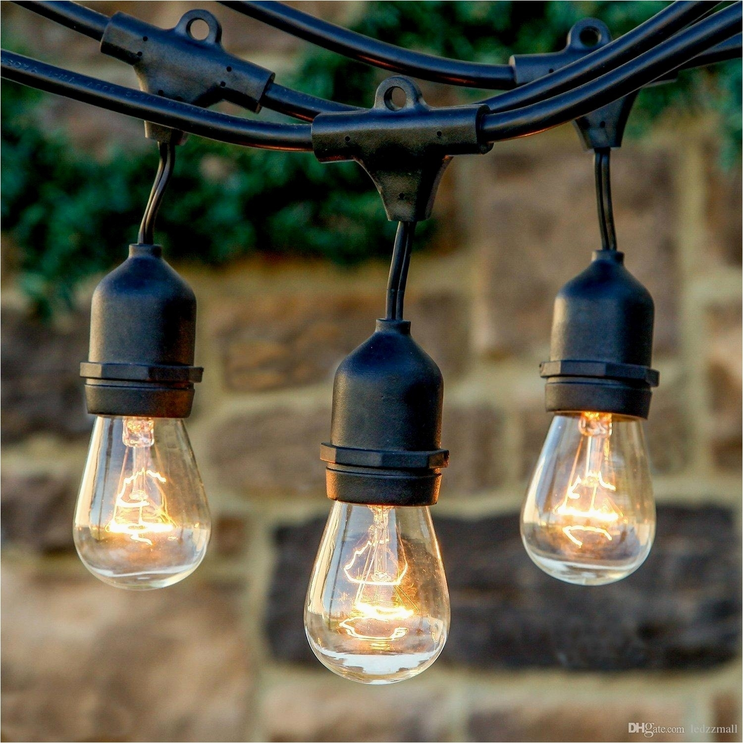 Outdoor Strand Lighting Ideas Outdoor String Lights With Hanging With Regard To Modern Outdoor String Lights (#10 of 15)