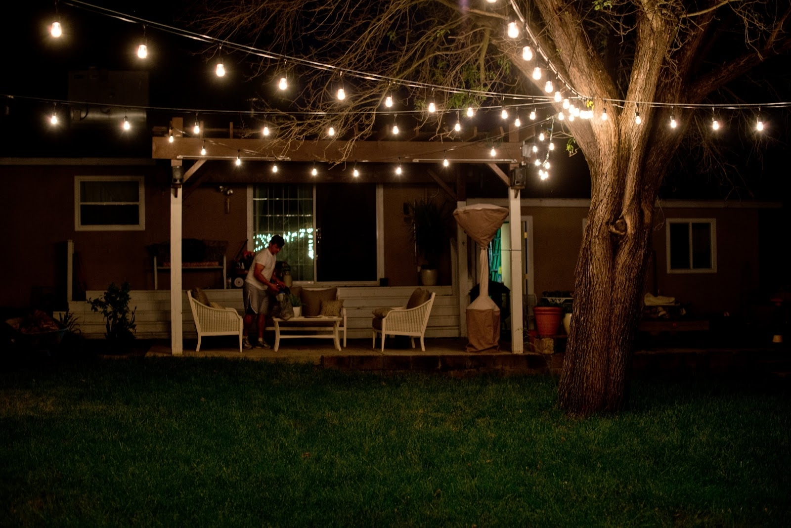 Outdoor String Lights Led Deck Diy Porch Backyard Target Patio Within Outdoor Hanging Deck Lights (View 10 of 15)