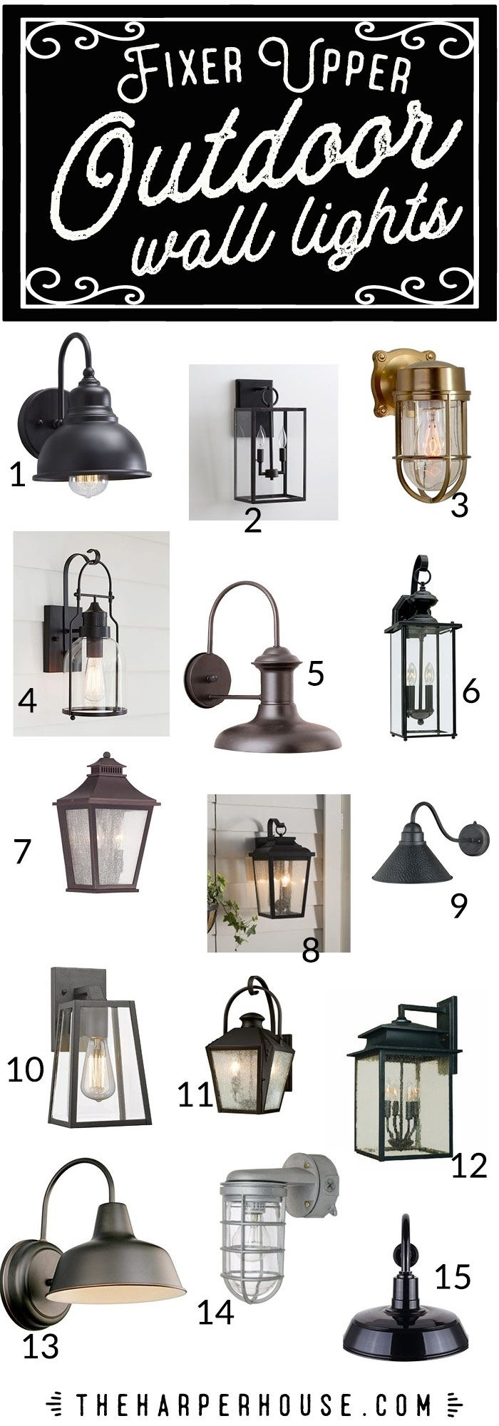 Outdoor Wall Lights – Fixer Upper Style | Outdoor Light Fixtures For Farmhouse Outdoor Wall Lighting (#9 of 15)