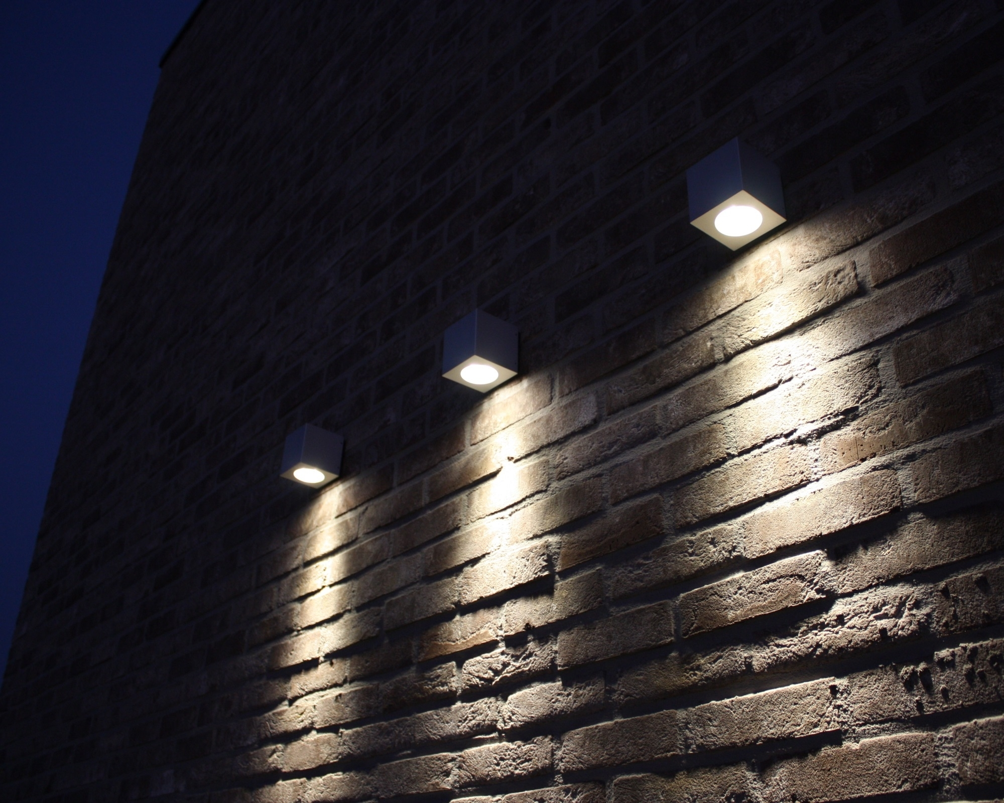 Outdoor Wall Mounted Led Lighting For Red Exposed Brick Wall Ideas In Outdoor Wall Mounted Led Lighting (#11 of 15)