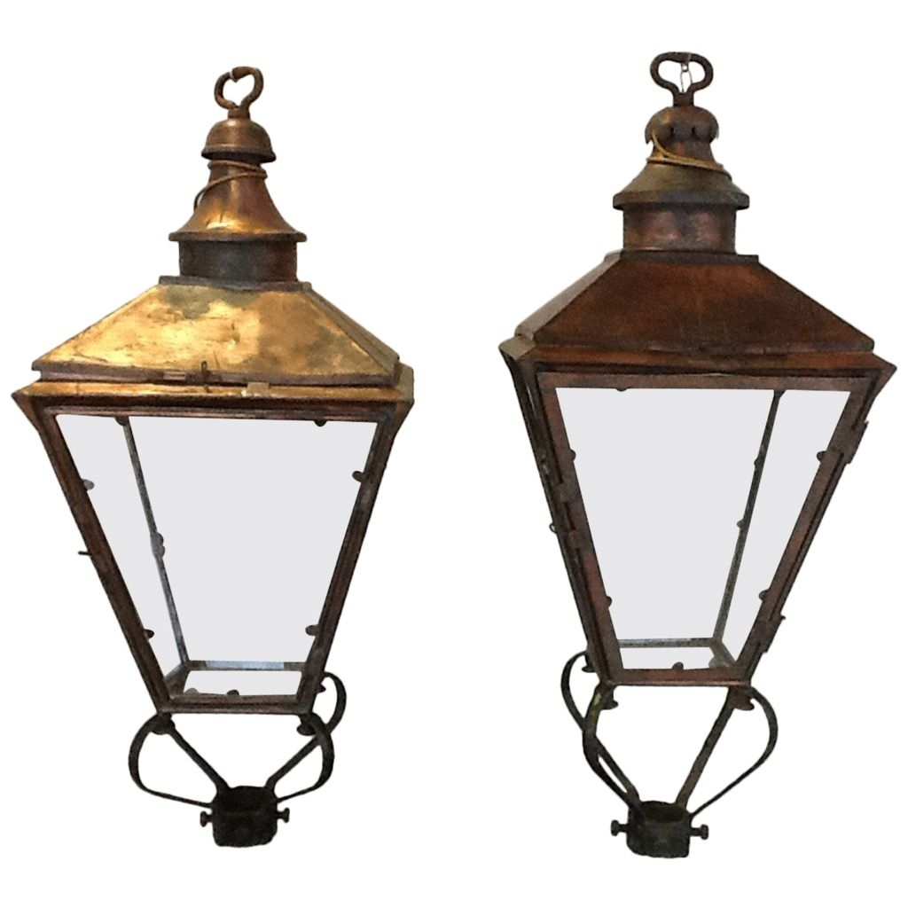 Pair Of 19Th Century English Street Lanterns | Modern Lanterns Throughout Modern Rustic Outdoor Lighting Att Wayfair (View 4 of 15)