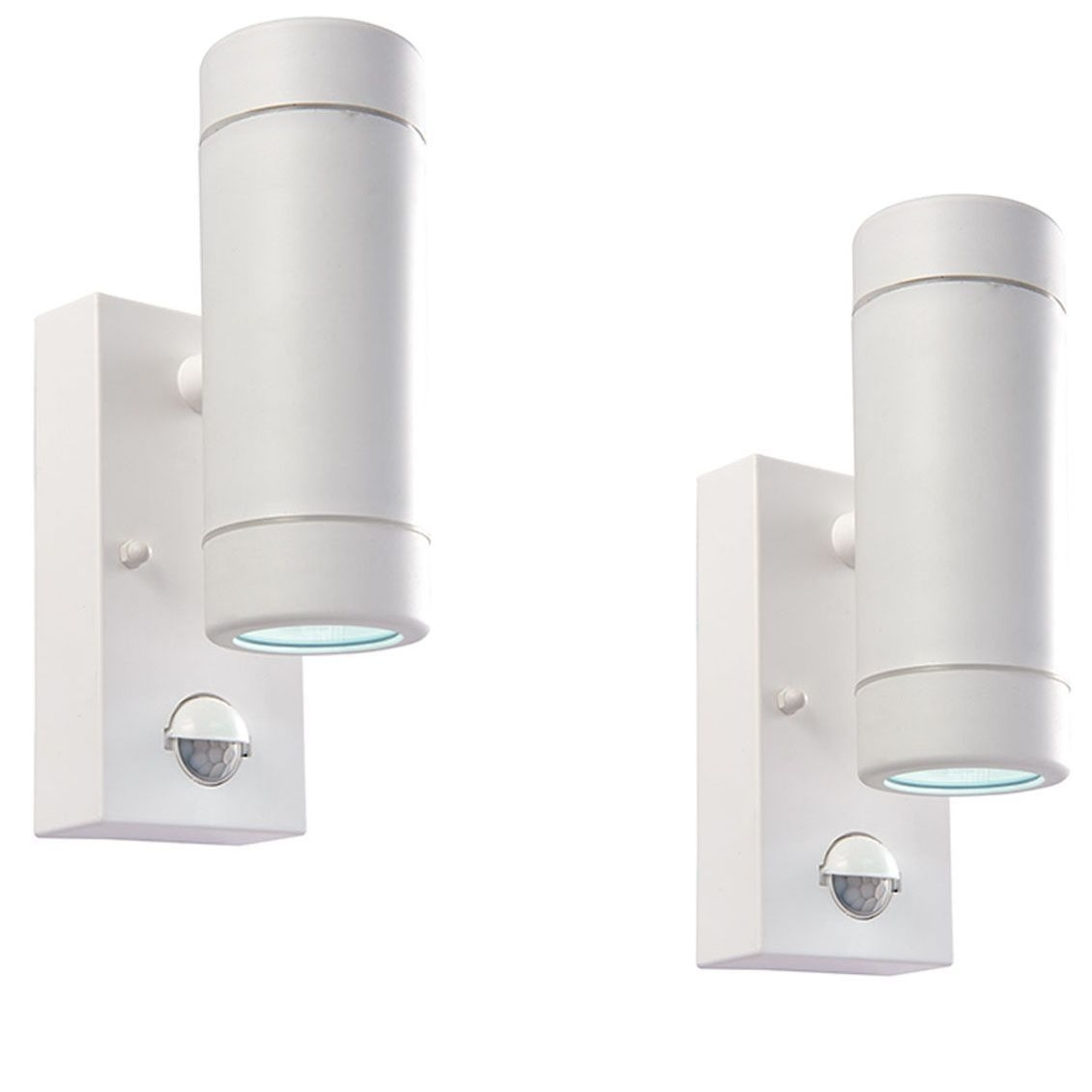 Inspiration about Pair Saxby 61007 Icarus Pir White 2.4W Up Down Led Outdoor Wall Light With Regard To Outdoor Up Down Wall Led Lights (#11 of 15)