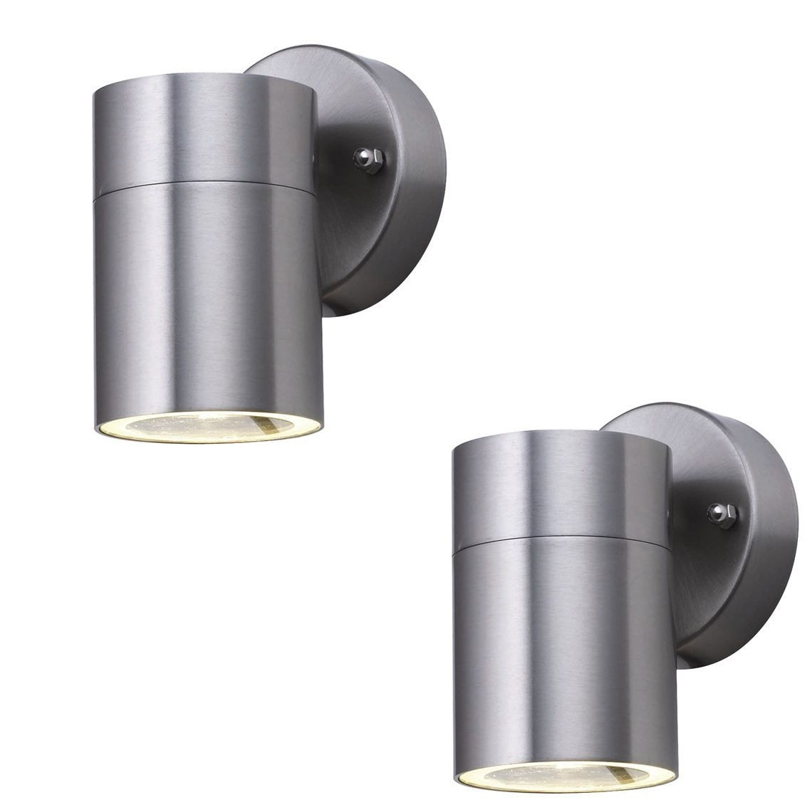 Inspiration about Pair Searchlight 5008 1 Led Stainless Steel Halogen Downlight Inside Stainless Steel Outdoor Wall Lights (#10 of 15)