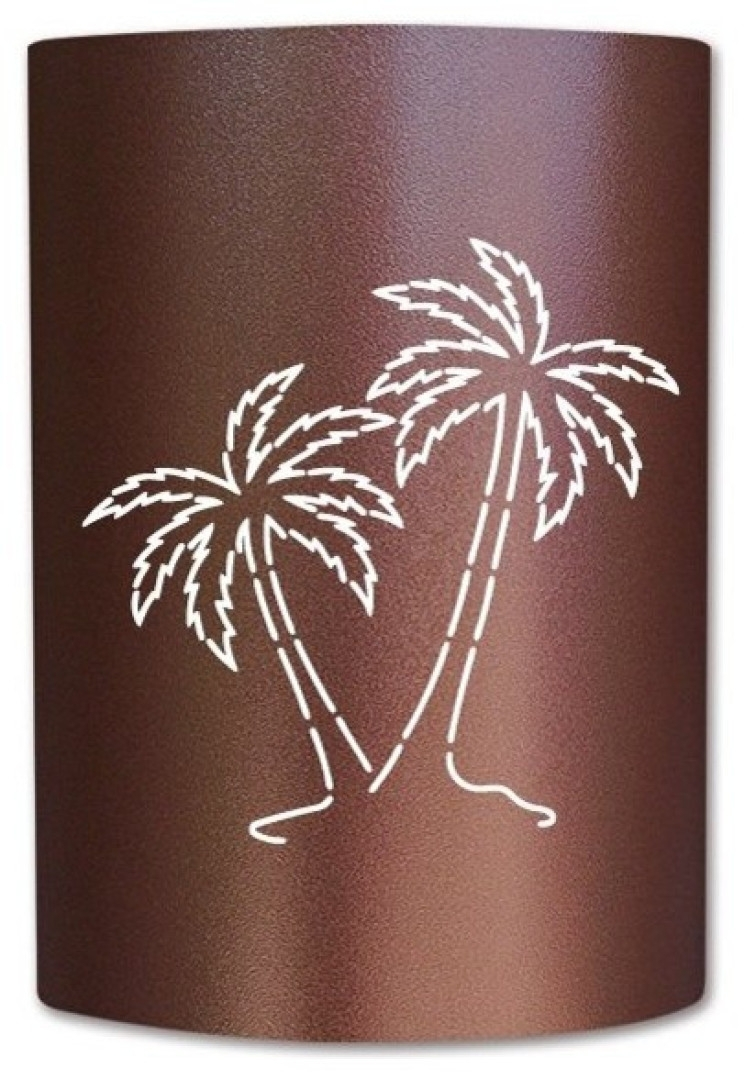 Palm Tree Sconce Tropical Outdoor Wall Lights And, Tropical Light With Regard To Tropical Outdoor Wall Lighting (#9 of 15)