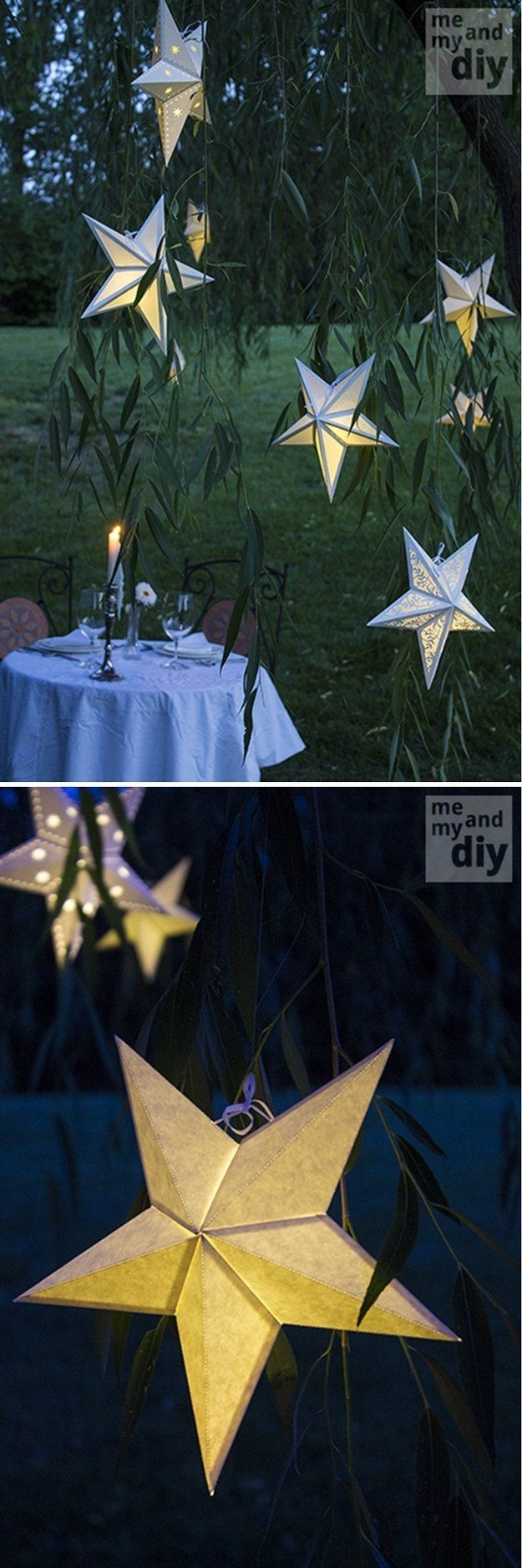 Paper Star Lanterns, Obvi Not Real Stars But Still #pretty | Quince Intended For Outdoor Hanging Star Lanterns (#14 of 15)