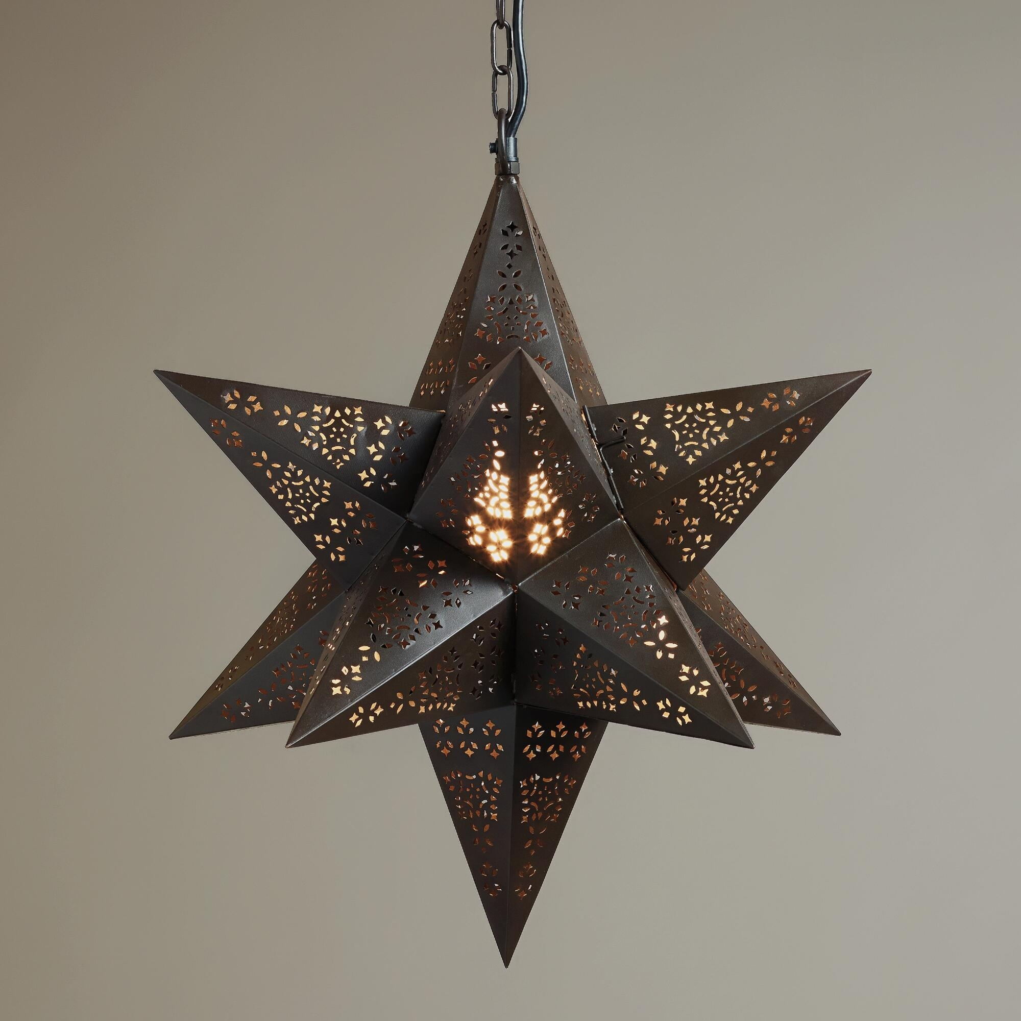 Inspiration about Paper Star Pendant Light Hanging Lights That Plug In Moravian Star Pertaining To Outdoor Hanging Star Lights (#9 of 15)