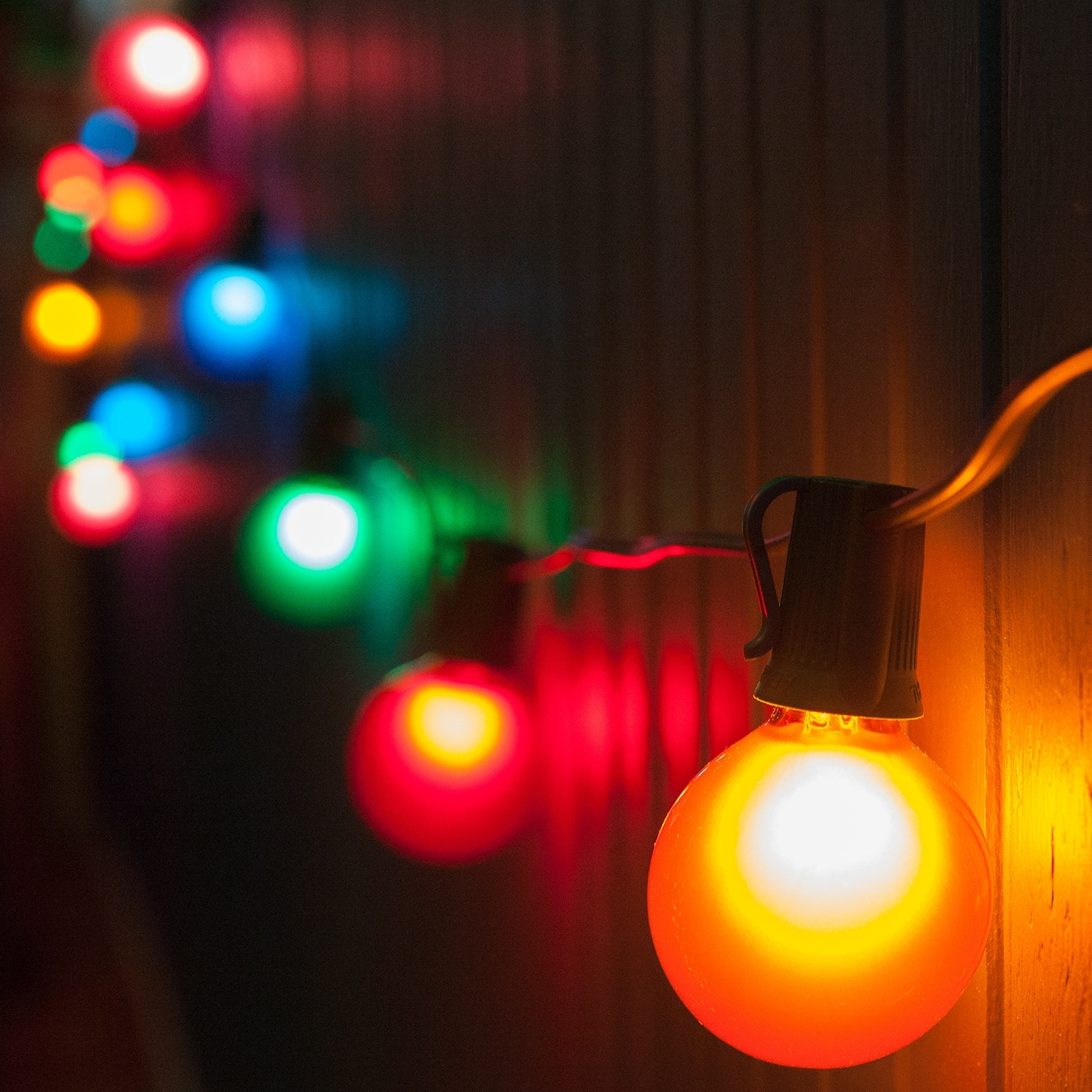 Patio String Lights And Bulbs ~ Idolza With Outdoor Hanging String Light Bulbs (#9 of 15)