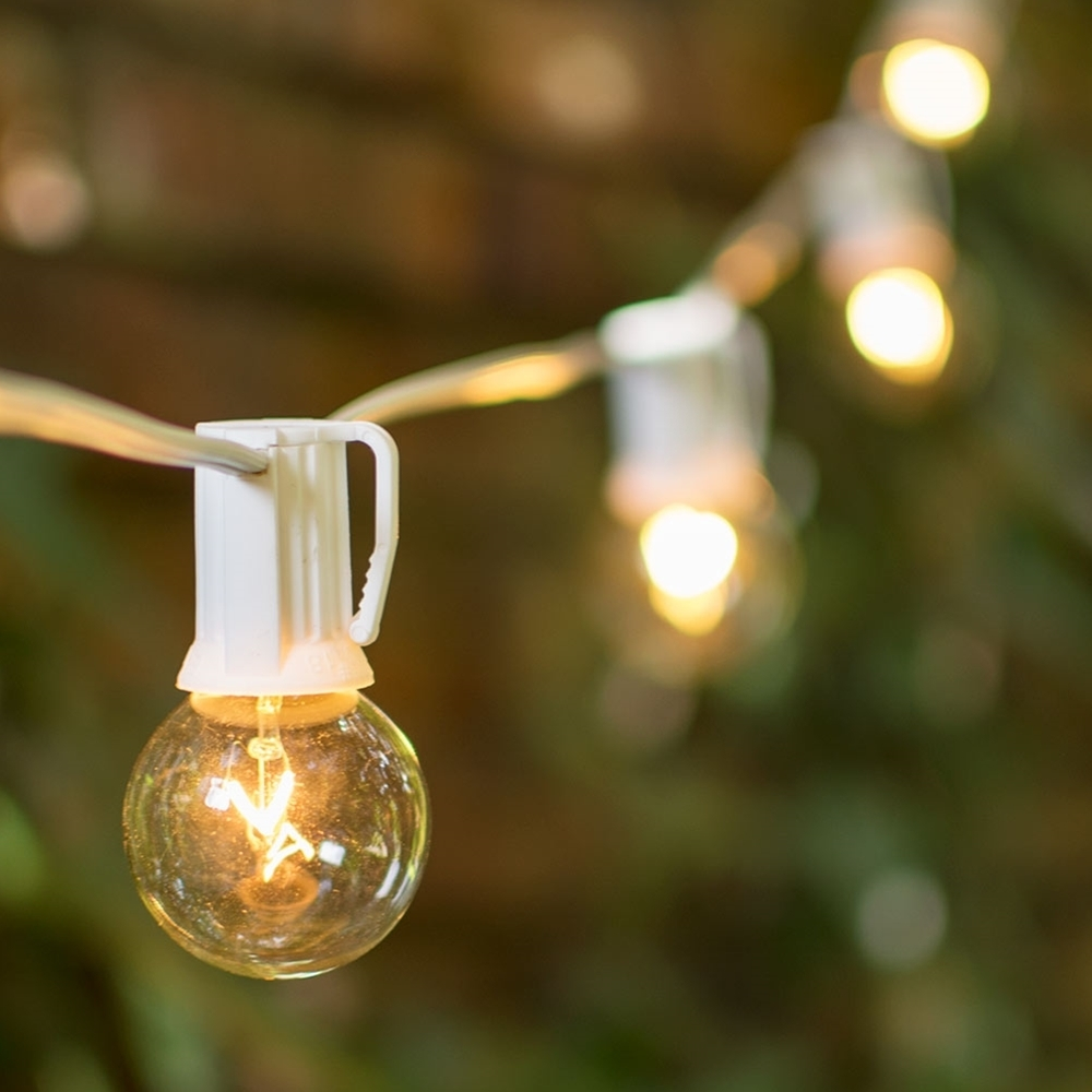 Patio String Lights Bistro Lighting For And Inspirations ~ Savwi With Regard To Outdoor Hanging Lights Bulbs (#12 of 15)