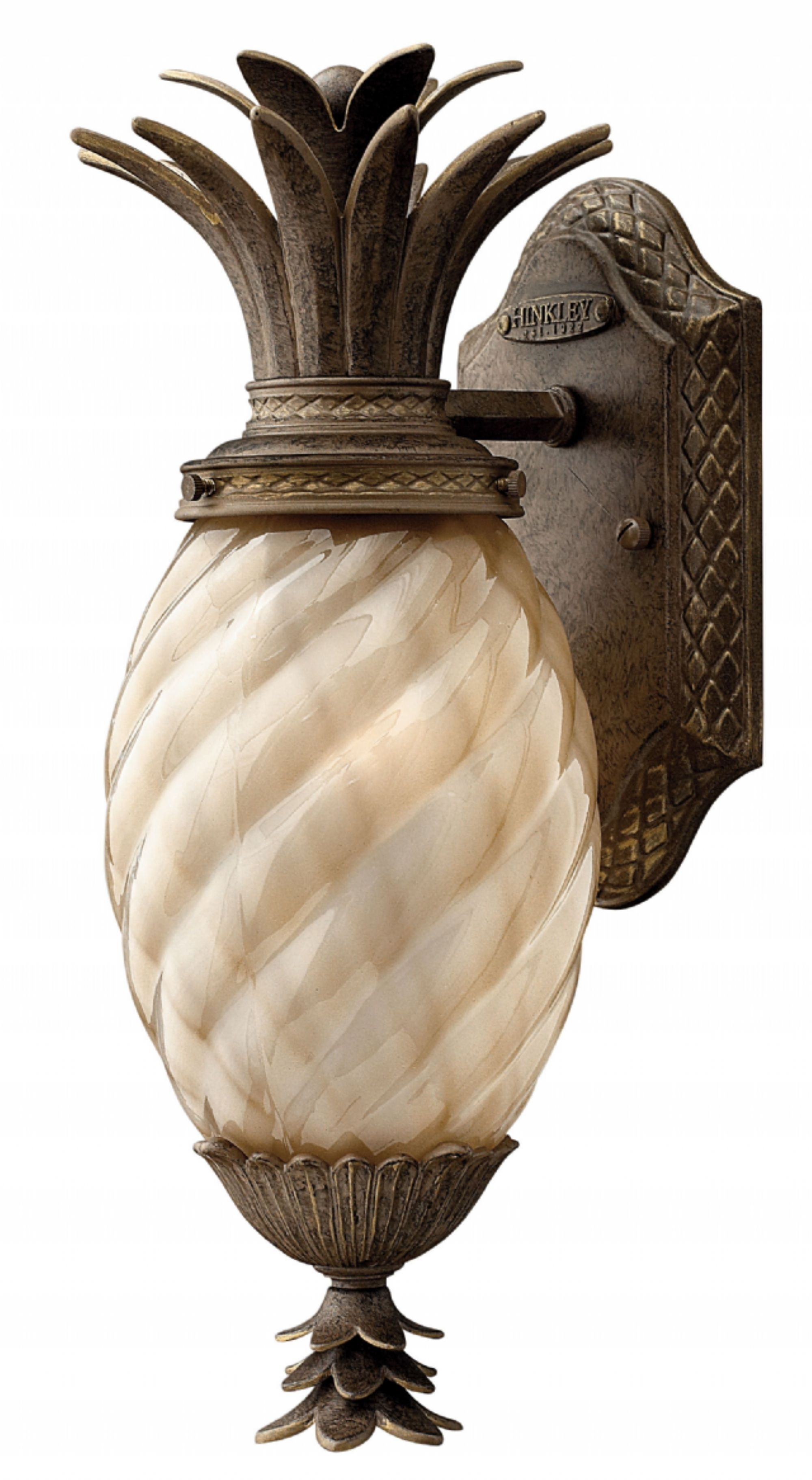 Inspiration about Pearl Bronze Plantation > Exterior Wall Mount Inside Pineapple Outdoor Wall Lights (#11 of 15)