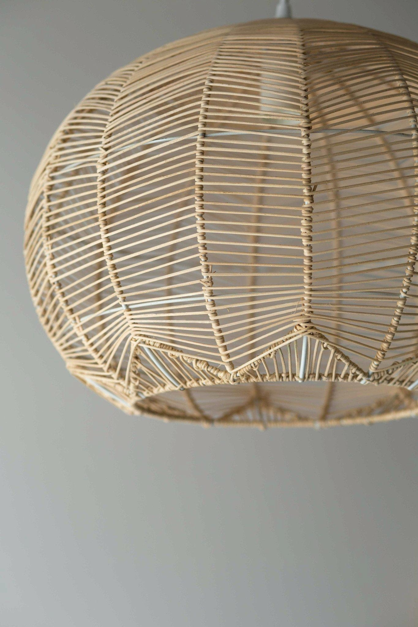 Inspiration about Pendant Light : Wicker Pendant Lighting Rattan Light Wicker Pendant Intended For Outdoor Hanging Wicker Lights (#14 of 15)