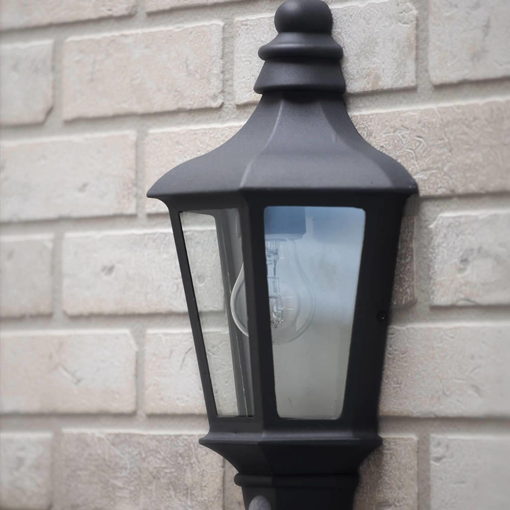Inspiration about Perry Outdoor Pir Half Lantern – Dark Grey From Litecraft In Half Lantern Outside Wall Lights (#6 of 15)