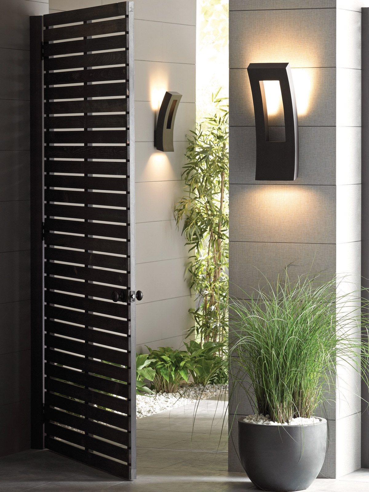 Personable Modern Exterior Wall Lights Set Fresh At Kitchen Design Throughout Contemporary Outdoor Wall Lighting Sconces (#14 of 15)