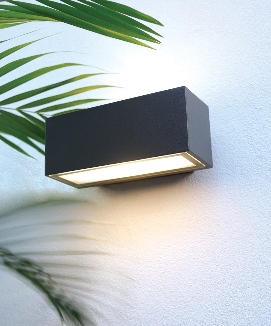 Pilot 1 Light Exterior Wall Bracket In Charcoal,lighting,beacon Lighting With Regard To Beacon Lighting Outdoor Wall Lights (#7 of 15)