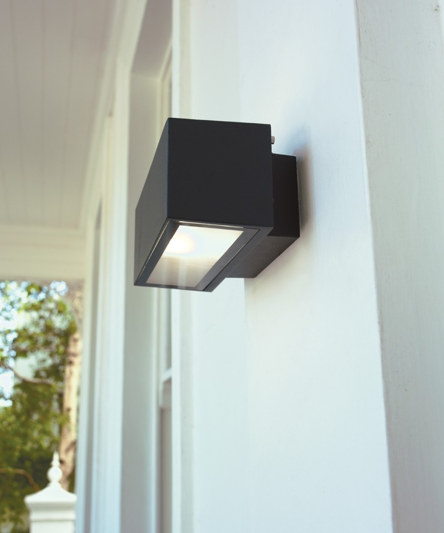 Pilot 1 Light Exterior Wall Bracket In Charcoal,lighting,beacon Lighting Within Beacon Lighting Outdoor Wall Lights (#8 of 15)