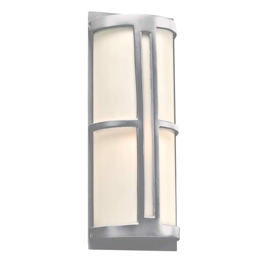Plc 31736Sl Rox Contemporary Silver Outdoor Wall Light Fixture – Plc Throughout Contemporary Outdoor Wall Lights (#12 of 15)