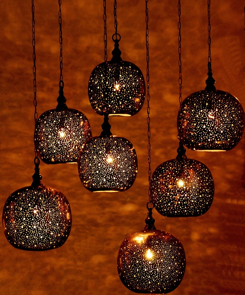 Popular Moroccan Pendant Lights Throughout Hanging Lamp Collection Within Outdoor Hanging Moroccan Lanterns (View 5 of 15)