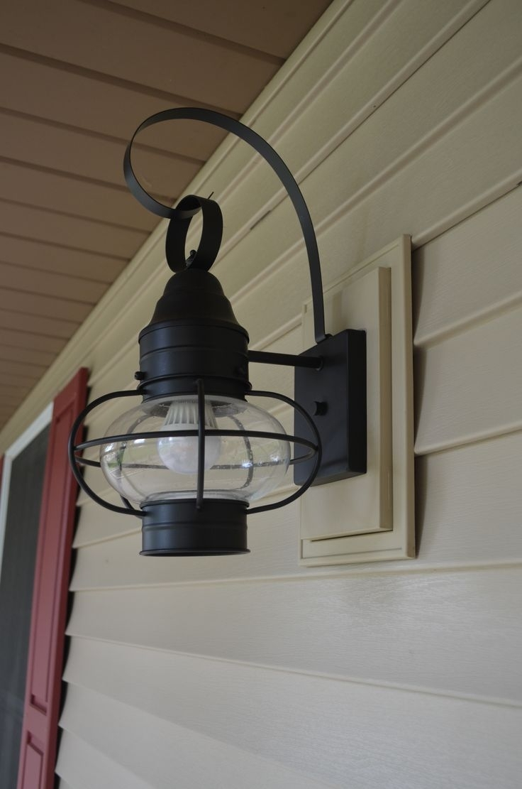 Inspiration about Porch Light Against Siding – Google Search | Rental Exterior Throughout Vinyl Outdoor Wall Lighting (#1 of 15)