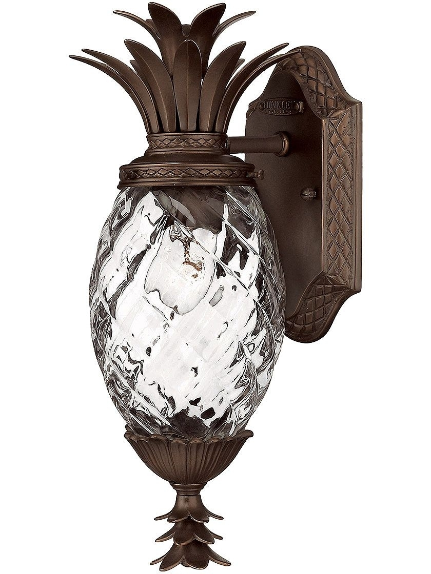Inspiration about Porch Light Fixtures. Plantation Pineapple Sconce In Copper Bronze With Pineapple Outdoor Wall Lights (#1 of 15)