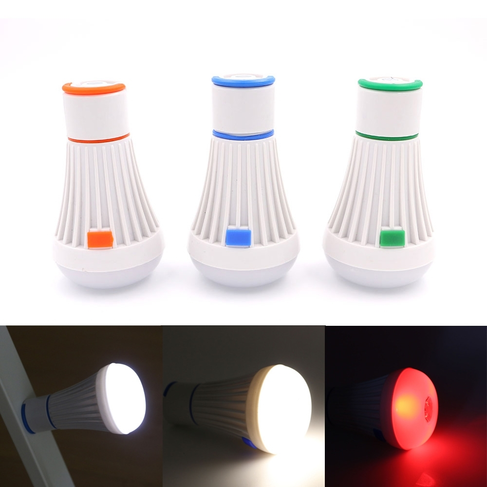 Portable Camping Tent Light Bulb 4 Modes Fishing Lantern Lamp For Outdoor Hanging Plastic Lanterns (View 14 of 15)