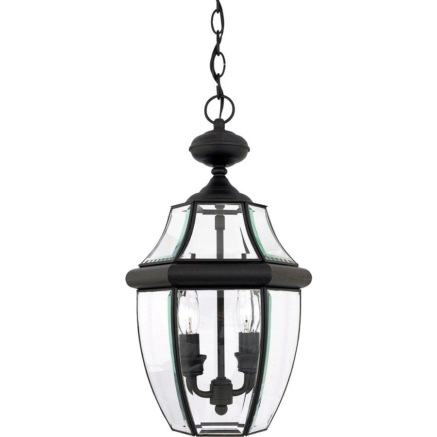Inspiration about Portfolio Brayden 18.5 In Mystic Black Outdoor Pendant Light Intended For White Outdoor Hanging Lights (#11 of 15)