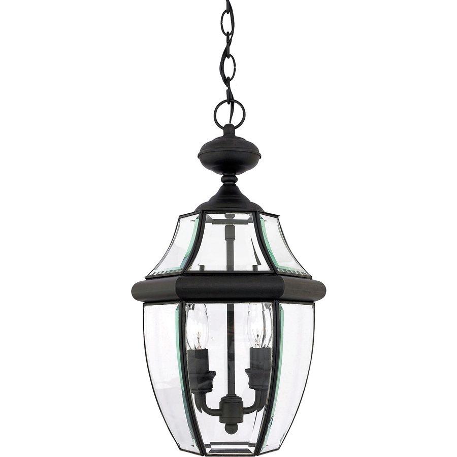 Inspiration about Portfolio Brayden 18.5 In Mystic Black Outdoor Pendant Light Regarding Outdoor Entrance Ceiling Lights (#5 of 15)