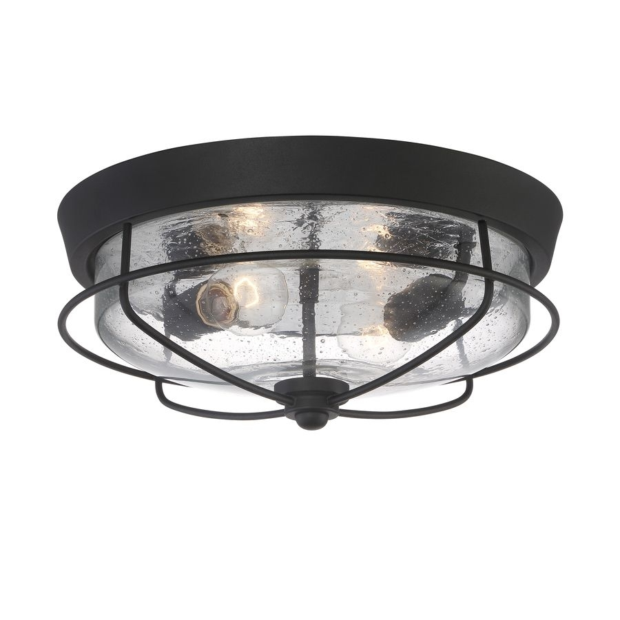 Inspiration about Portfolio Valdara 14.5 In W Matte Black Outdoor Flush Mount Light Inside Outdoor Ceiling Mount Porch Lights (#14 of 15)