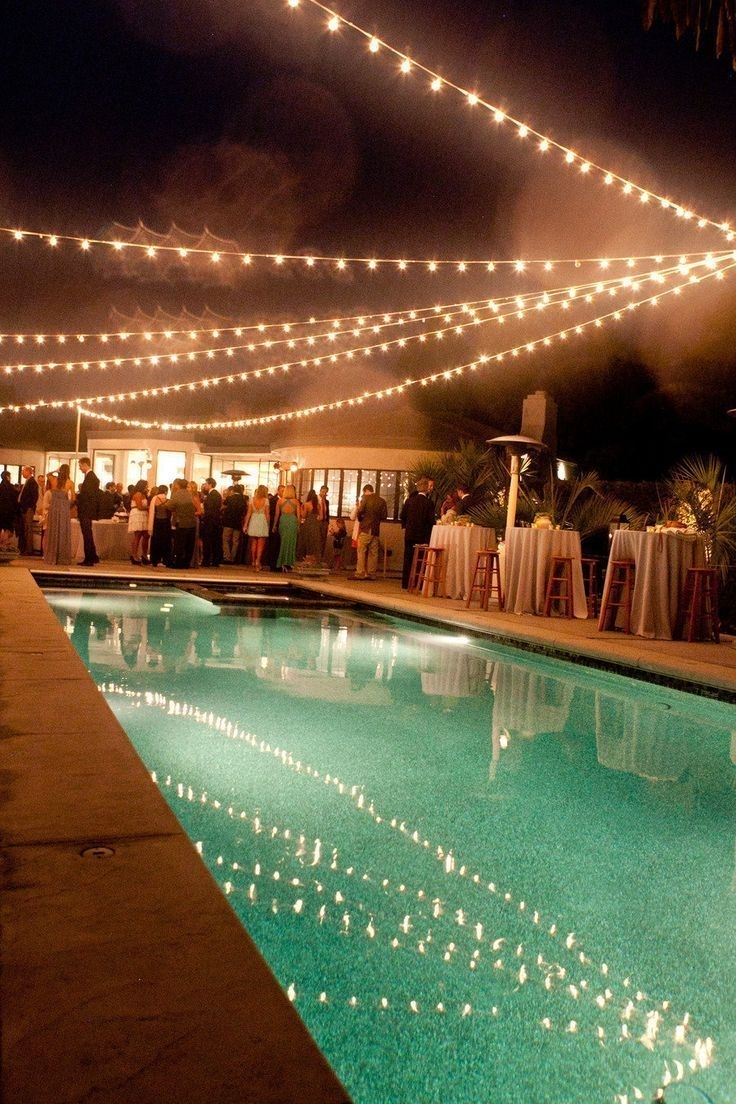 Inspiration about Prep Your Pool For A Partyhanging String Lights Above The Water Within Outdoor Hanging Pool Lights (#2 of 15)
