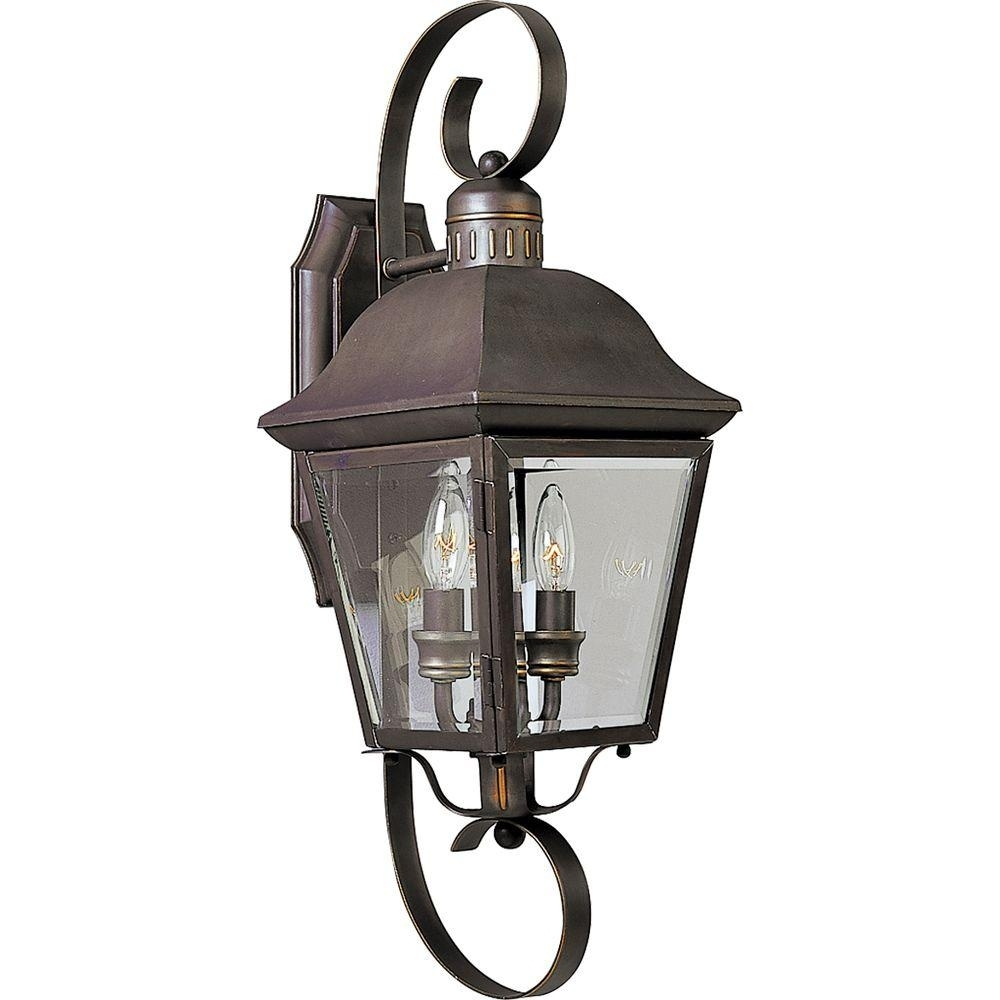 Inspiration about Progress Lighting Andover Collection 2 Light Outdoor Antique Bronze Pertaining To Antique Outdoor Wall Lights (#3 of 15)