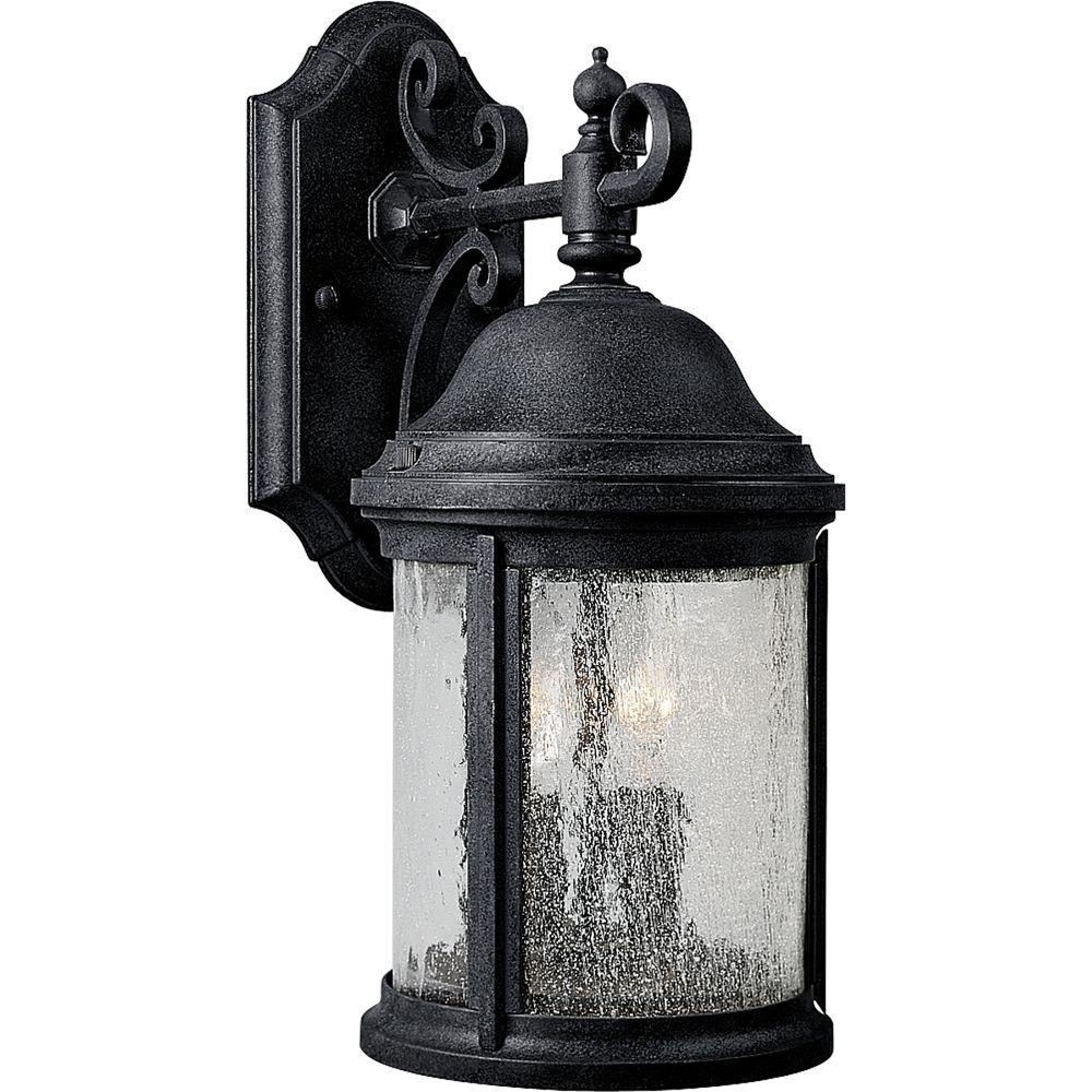 Inspiration about Progress Lighting Ashmore Collection 2 Light Textured Black Outdoor For Vinyl Outdoor Wall Lighting (#11 of 15)