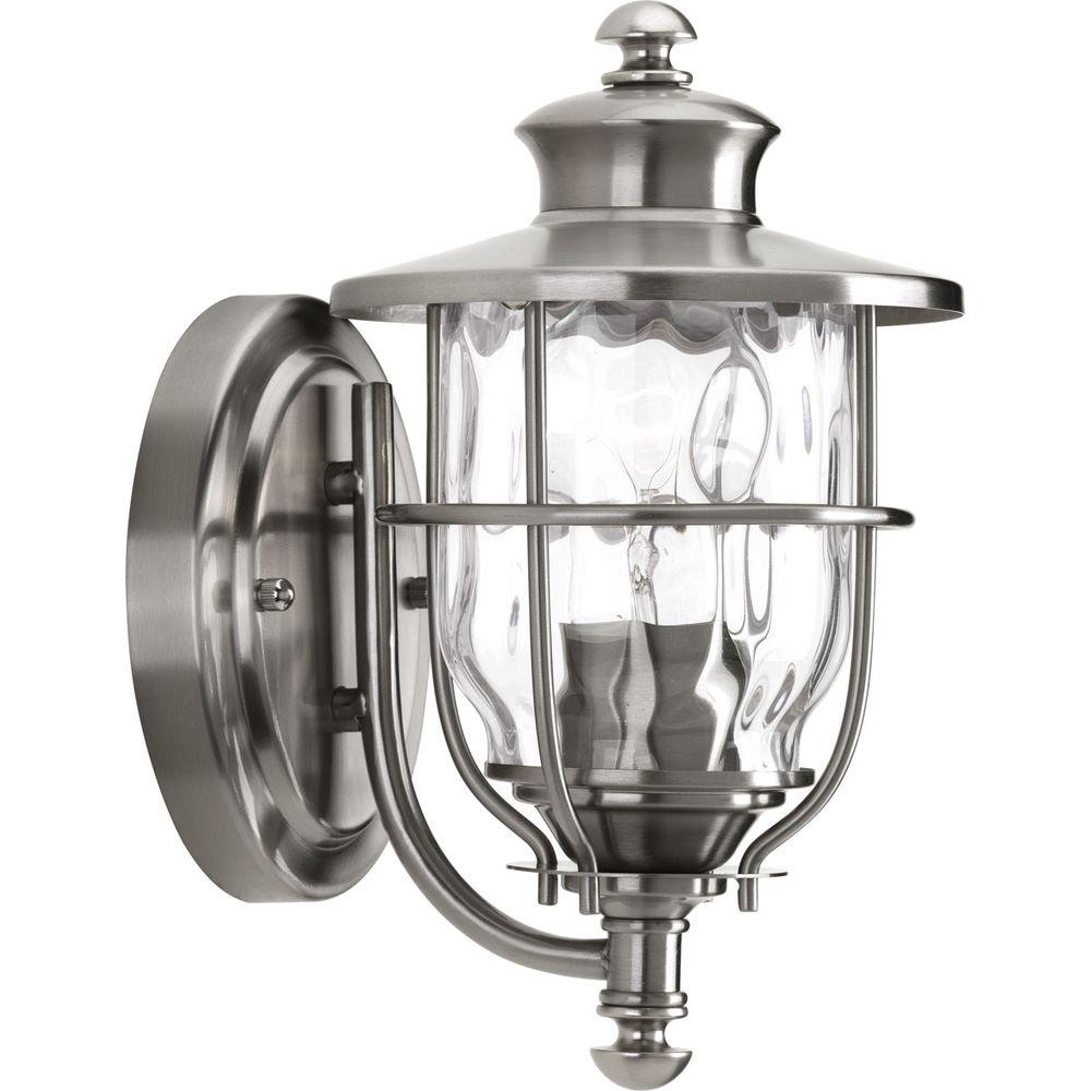Progress Lighting Beacon Collection 1 Light 8 Inch Stainless Steel Pertaining To Beacon Outdoor Wall Lighting (#12 of 15)