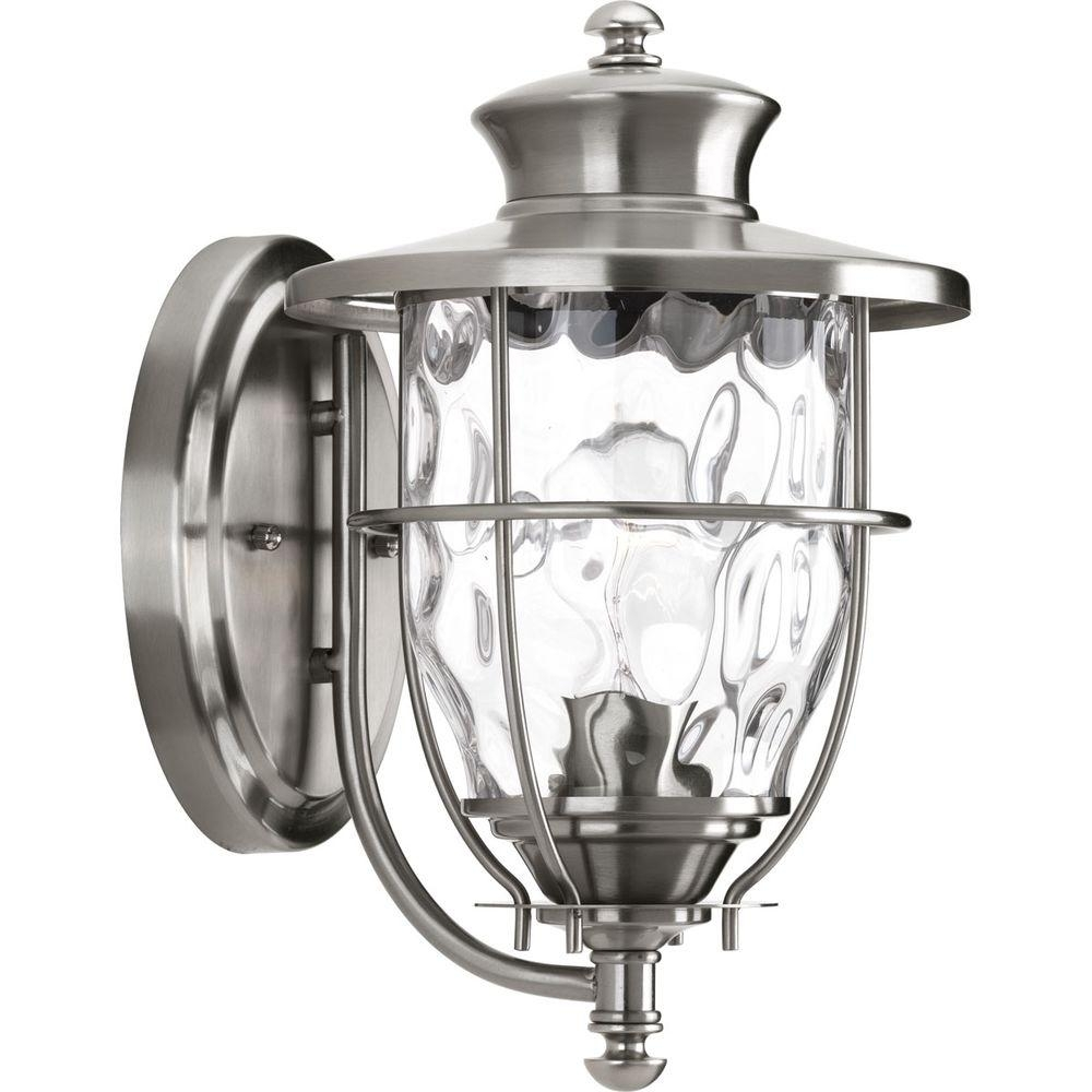 Progress Lighting Beacon Collection 1 Light 8 Inch Stainless Steel Throughout Beacon Outdoor Ceiling Lights (#8 of 15)