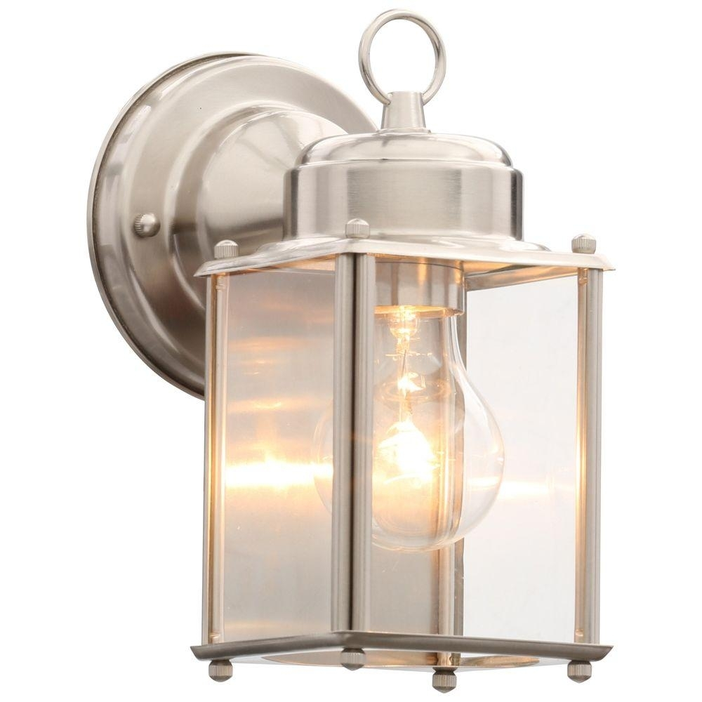 Inspiration about Progress Lighting Brushed Nickel Outdoor Wall Lantern P5607 09 – The With Nickel Outdoor Wall Lighting (#1 of 15)