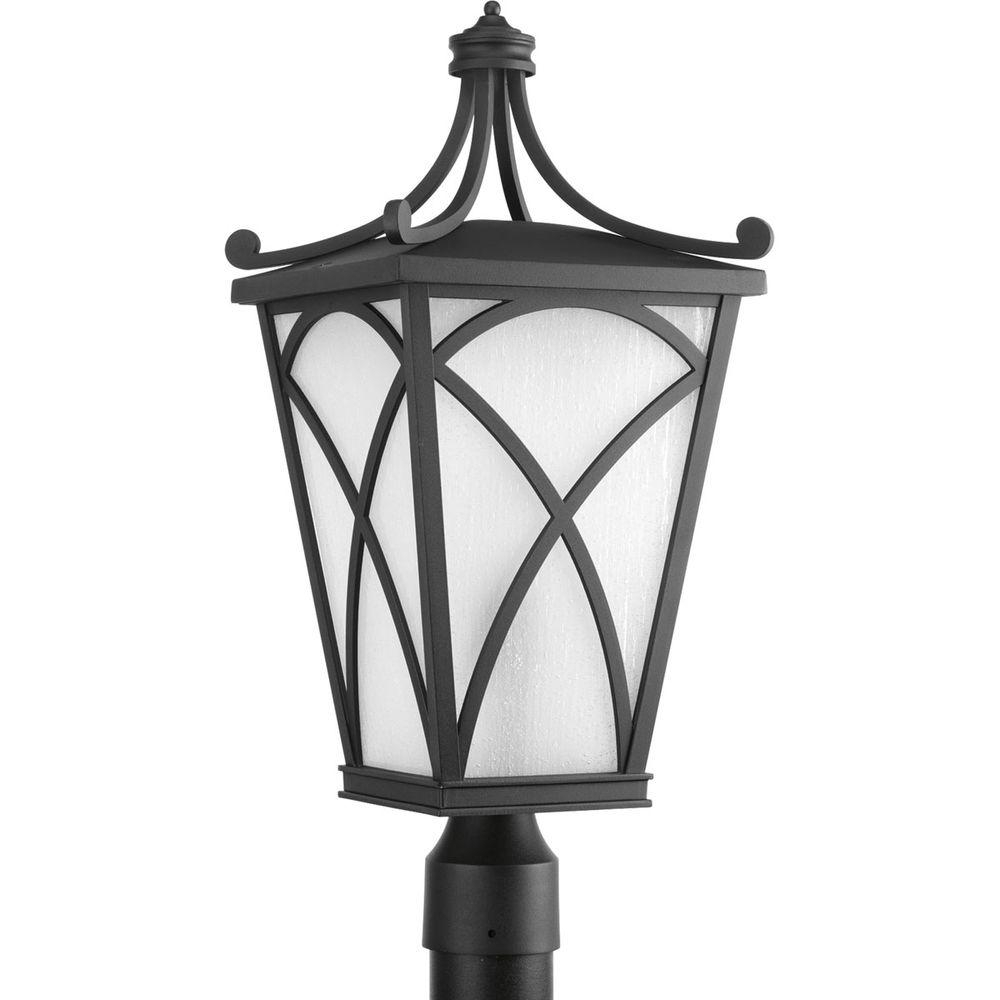 Progress Lighting Cadence Collection 1 Light Black Outdoor Post Regarding Outdoor Hanging Post Lights (#11 of 15)