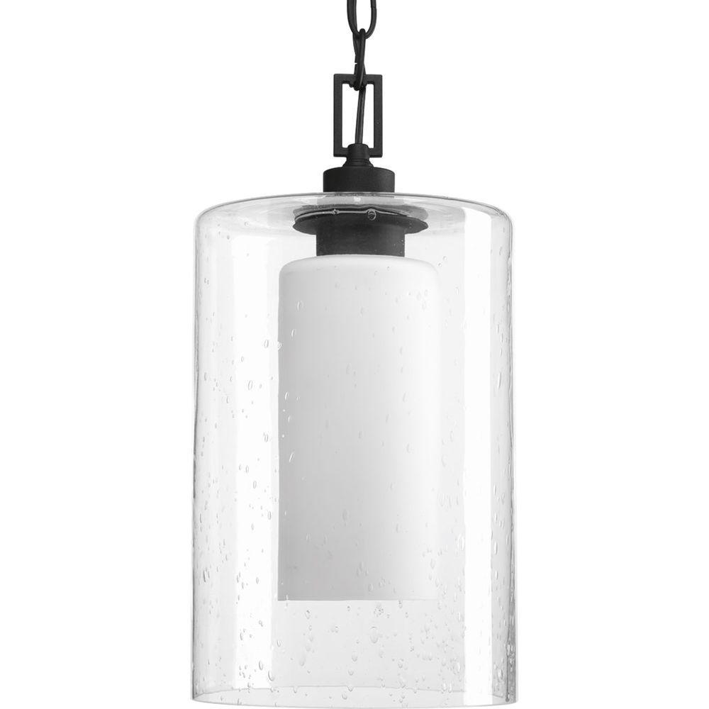 Progress Lighting Compel Collection 1 Light Black Outdoor Hanging With Modern Outdoor Pendant Cylinder Lighting Fixtures (#15 of 15)
