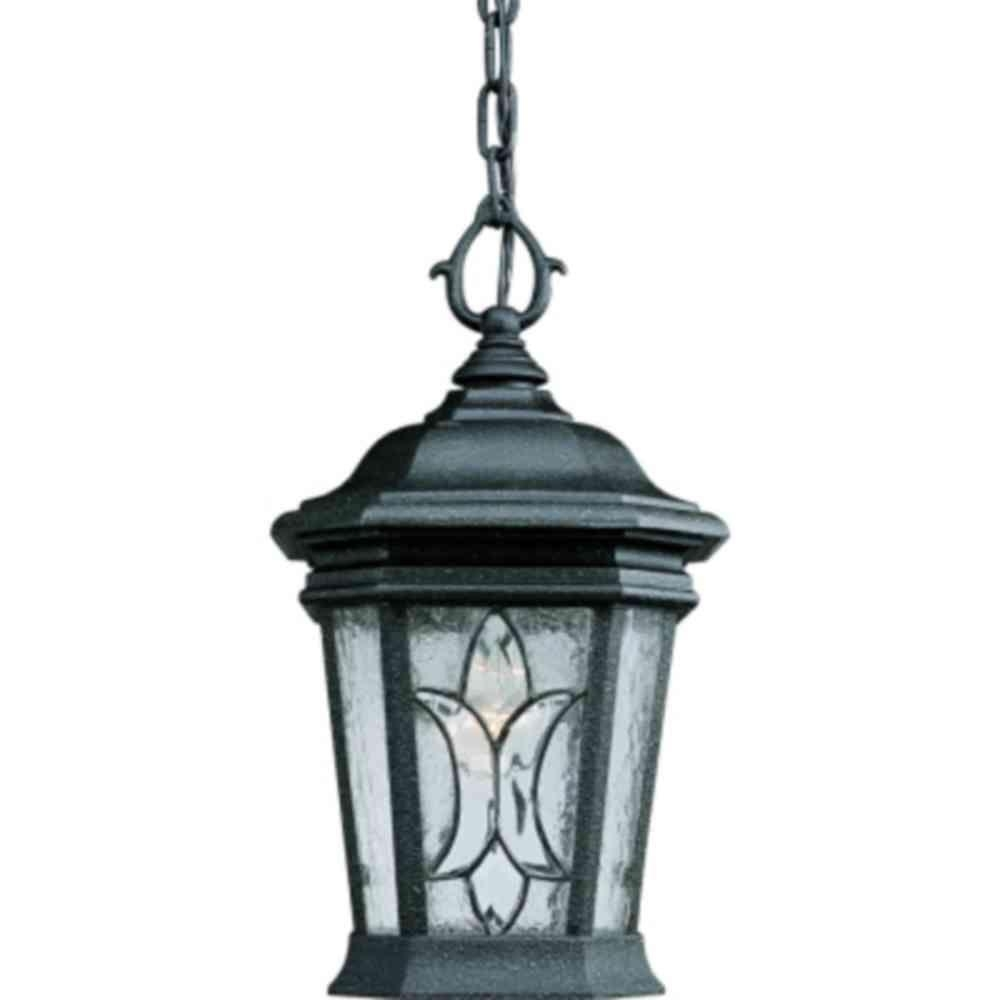 Progress Lighting Cranbrook Collection 1 Light Gilded Iron Outdoor With Regard To Metal Outdoor Hanging Lights (#10 of 15)