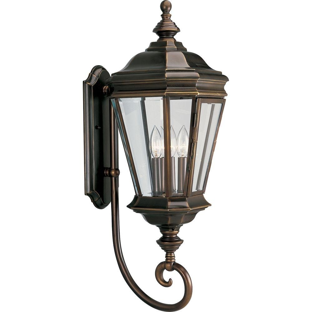 Inspiration about Progress Lighting Crawford Collection 3 Light Oil Rubbed Bronze Inside Bronze Outdoor Wall Lights (#9 of 15)