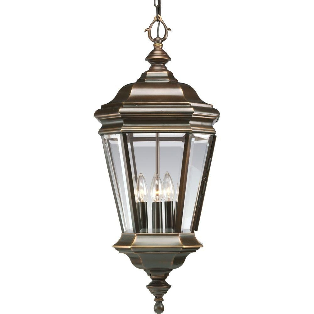 Progress Lighting Crawford Collection 4 Light Oil Rubbed Bronze With Regard To Antique Outdoor Hanging Lights (#11 of 15)