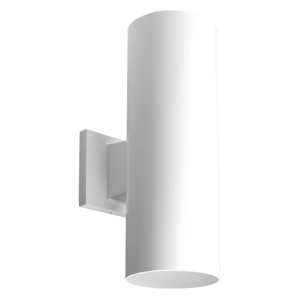 Inspiration about Progress Lighting Cylinder White Led Outdoor Wall Light Accessory Regarding White Led Outdoor Wall Lights (#9 of 15)