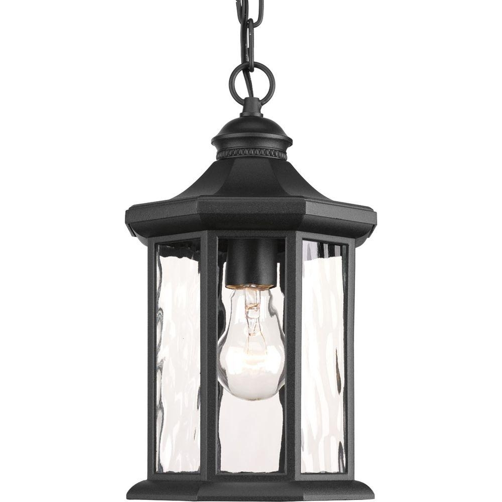 Progress Lighting Edition Collection 1 Light Black Outdoor Hanging With Outdoor Hanging Light Fixtures In Black (View 13 of 15)
