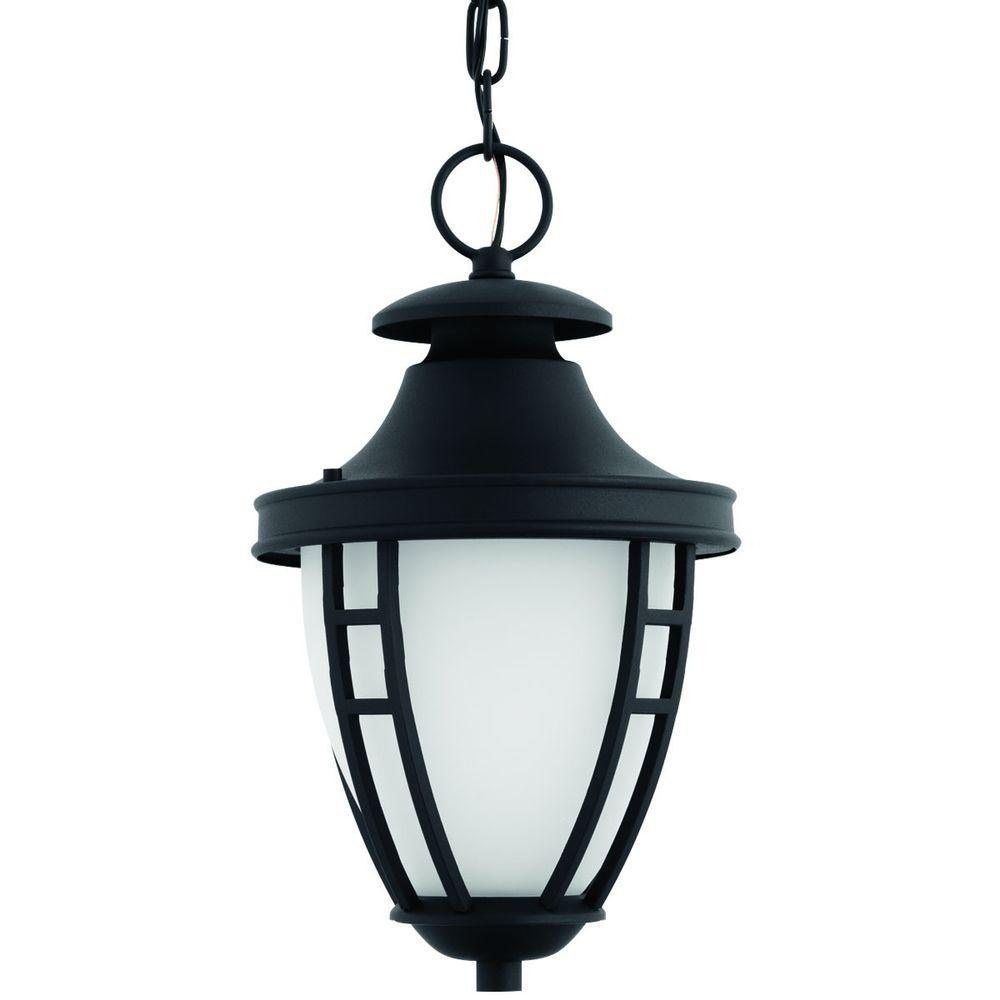 Inspiration about Progress Lighting Fairview Collection 1 Light Outdoor Textured Black Throughout Led Outdoor Hanging Lanterns (#4 of 15)