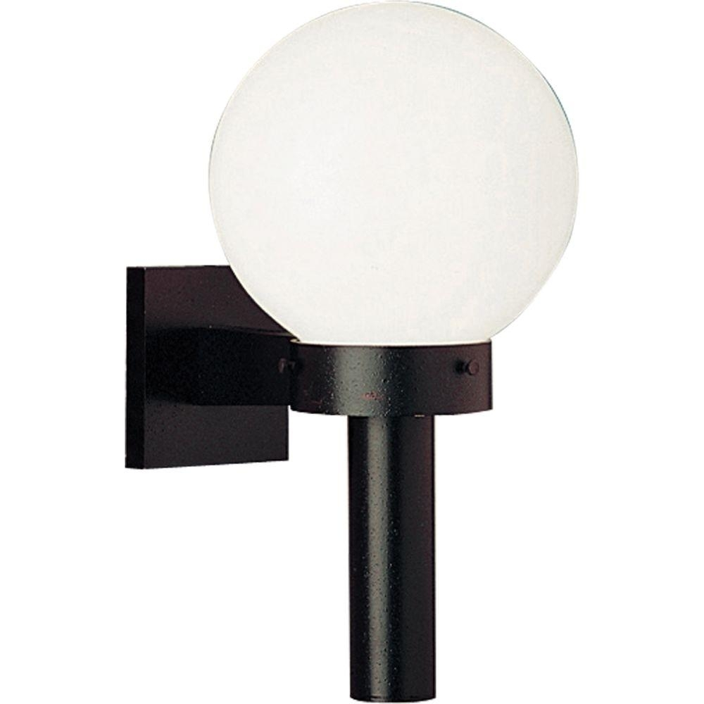 Progress Lighting Globe Collection Black Outdoor Wall Lantern P5626 Intended For Outside Wall Globe Lights (#13 of 15)