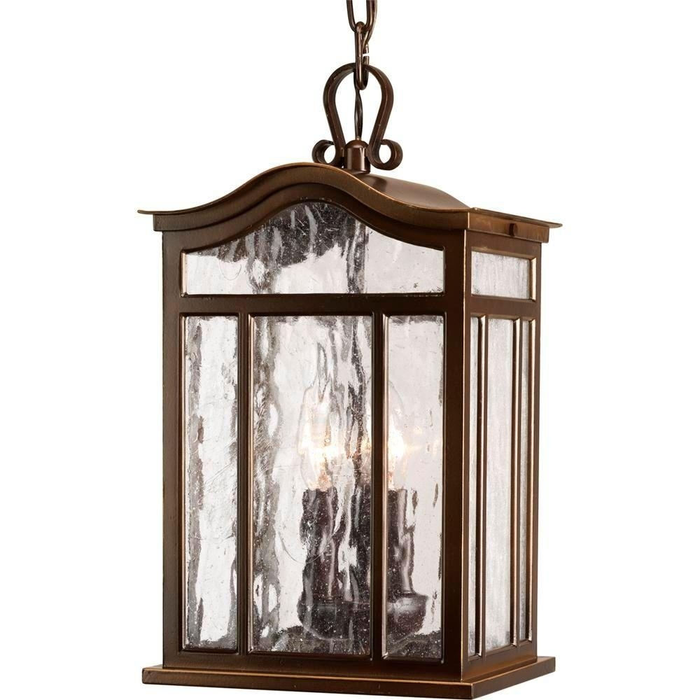 Progress Lighting Meadowlark Collection 3 Light Outdoor Oil Rubbed With Regard To Outdoor Hanging Lanterns From Canada (#15 of 15)