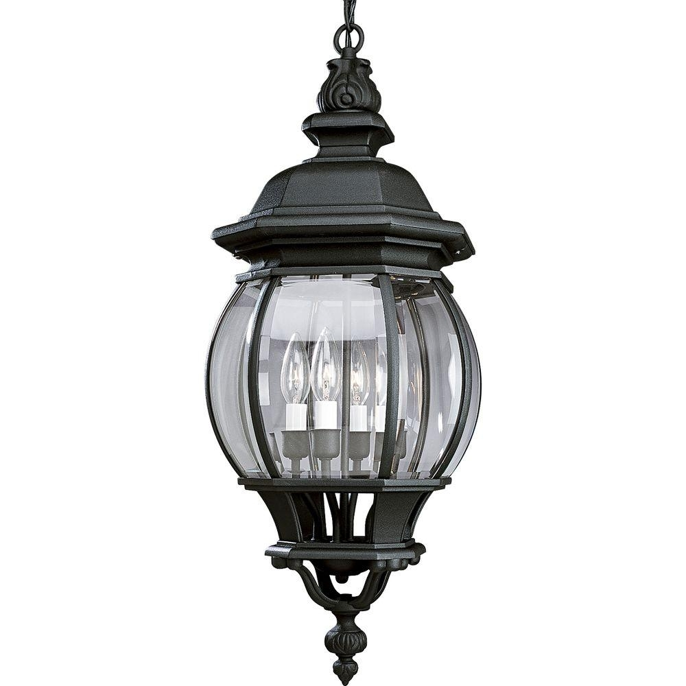 Progress Lighting Onion Hanging Lantern Collection 4 Light Outdoor For Outdoor Hanging Coach Lights (#10 of 15)