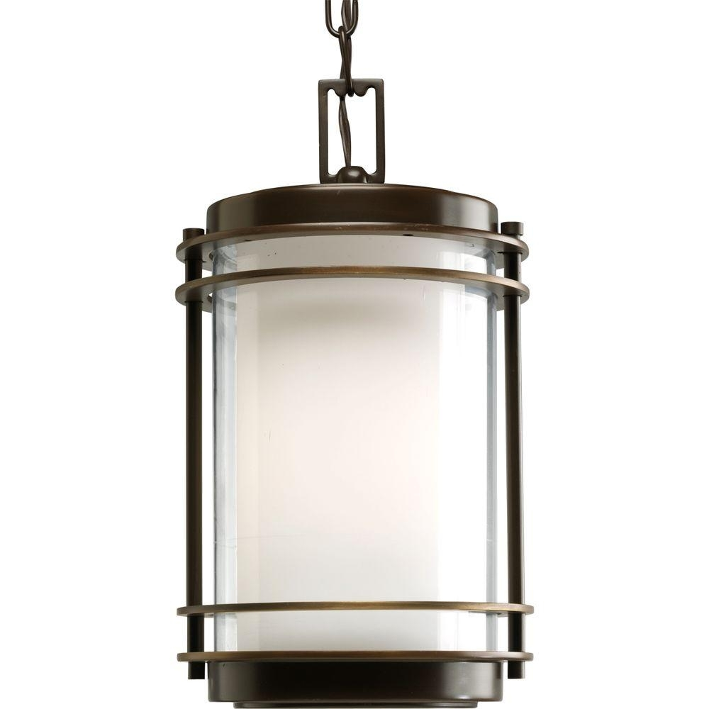 Progress Lighting Penfield Collection Oil Rubbed Outdoor Bronze For Oil Rubbed Bronze Outdoor Hanging Lights (#10 of 15)
